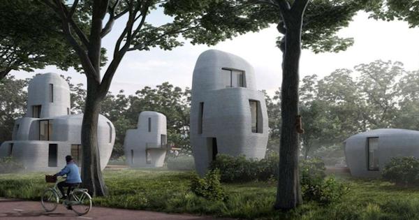 3d nyomtatott beton ház