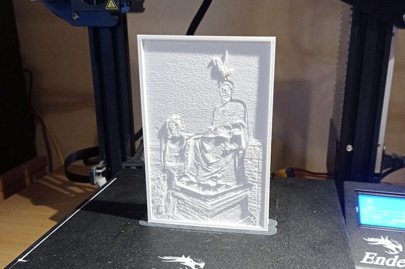 Lithophane 3D printing