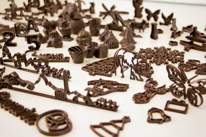 3D printed chocolates