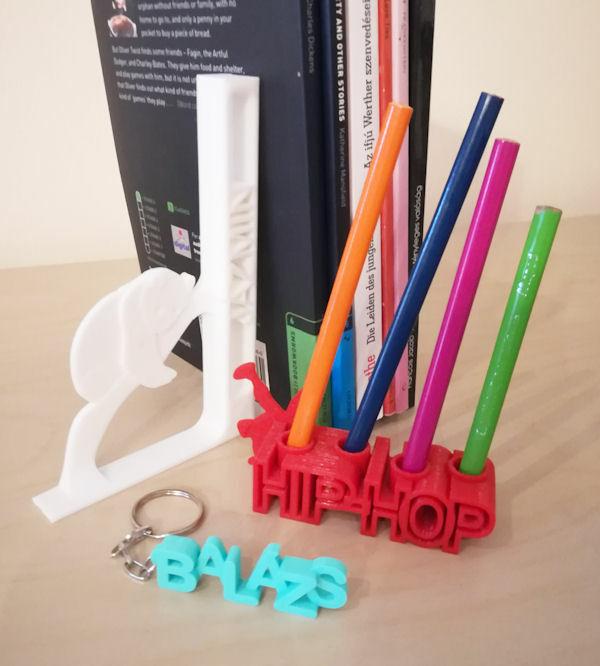 Custom 3D printed gifts, PLA
