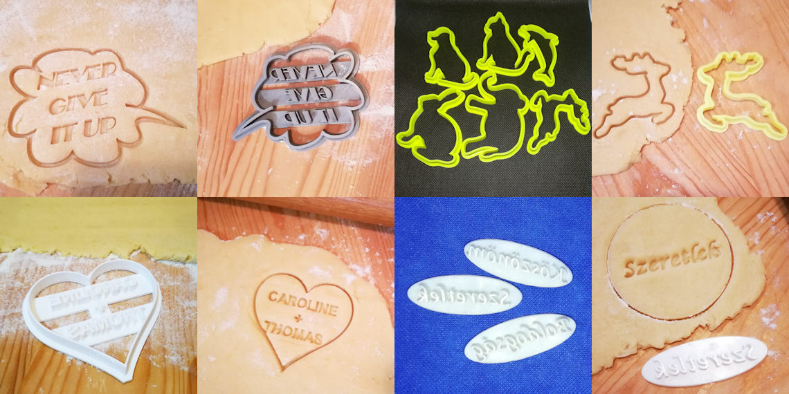 Custom 3D printed cookie cutters