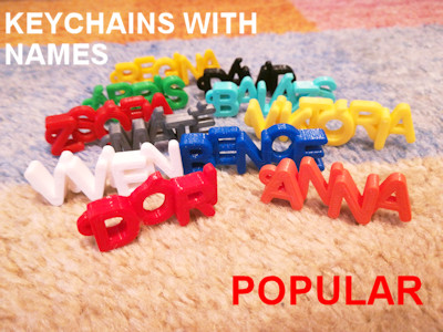 Keychains with name - 3D printed gifts