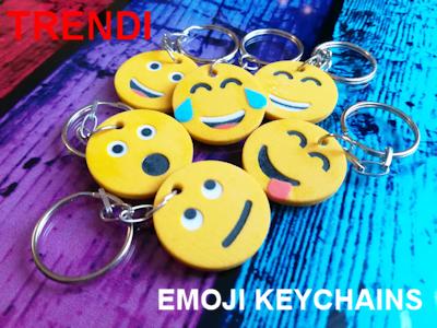 Trendi emoji keychains - 3D printed gift ideas