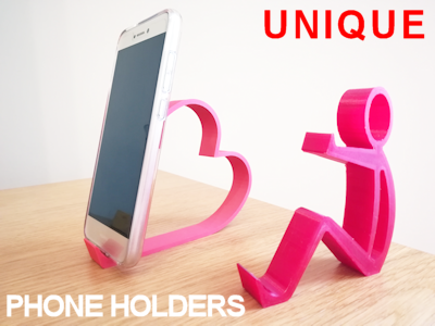 Desktop phone holders - 3D printed gifts