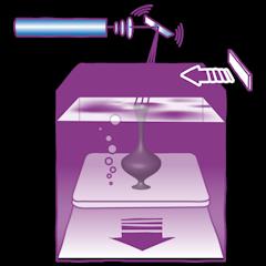 SLA 3D nyomtatás technológia