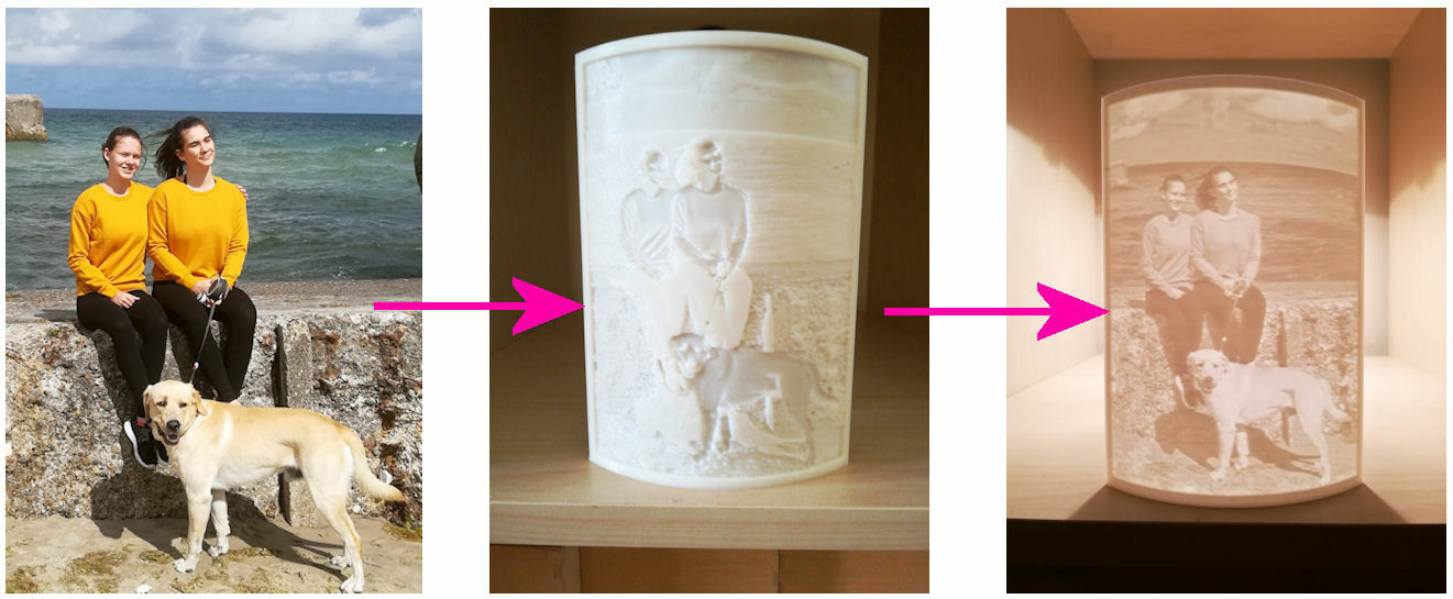 Custom 3D Printed Image - lithophane