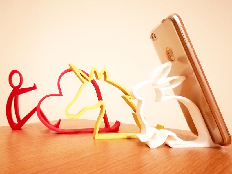 3d printed desktop phone holders