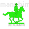 Kép 1/2 - Horse Rider Custom Door Plate - 3D printed