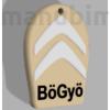 "Picture 2/2 -Custom Car Keychain ""BöGyö"" - (40x49x4 mm) - Multicolor - composite powder - stone/white/black"