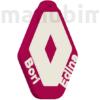 """Kép 2/2 - Egyedi autós kulcstartó """"Bori+Edina"""" - (50x40x4 mm) - PLA - műanyag - bordó/fehér"""