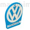 "Picture 2/2 -Custom Car Keychain ""Bandika"" - (49x40x4 mm) - PLA - plastic - lightblue/white"