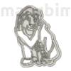 "Picture 2/2 -Custom Cookie Cutter, ""Lion"", 130x95x12 mm - PLA, plastic"