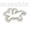 """Picture 2/2 -Custom Cookie Cutter, """"lizard"""", 100x58x10 mm - PLA, plastic"""