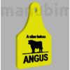 """Kép 2/2 - Egyedi kulcstartó """"ANGUS"""" - (70x53x4 mm) - PLA - műanyag - fekete/sárga"""