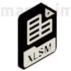 "Picture 2/2 -Custom Keychain ""XLSM-2"", PLA, plastic, black/white (40x30x4 mm)"