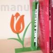 Egyedi 3D nyomtatott virágos könyvtámasz