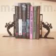 Egyedi könyvtámasz - szaxofonos
