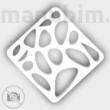 Voronoi keychain custom