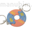 two persons keychain for football funs