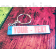 License Plate Keychain with custom text