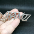 Custom Metal Keychain with Monogram