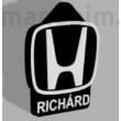 "Custom Car Keychain ""Gabesz"" - (36x45x4 mm) - PLA - plastic - black/white"