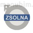 "Custom Car Keychain ""ZSOLNA"" - (38x37x4 mm) - Multicolor - composite powder"