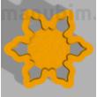 """Custom Cookie Cutter """"M&G""""  - 60 x 60 x 7 mm - PLA, plastic"""