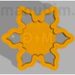 """Custom Cookie Cutter """"M+G""""  - 71 x 71 x 10 mm - PLA, plastic"""