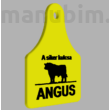 "Custom Keychain ""ANGUS"" - (70x53x4 mm) - PLA - plastic - black/yellow"