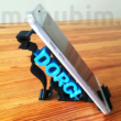Phone stand with customizable text - Dog Shaped