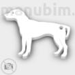 Dalmatian keychain