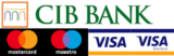 Bank card payment CIB bank