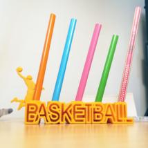 7bbcb37d969 Basketball Pencil Holder - 3D printed. Personalised Basketball Pen & Pencil  Holder