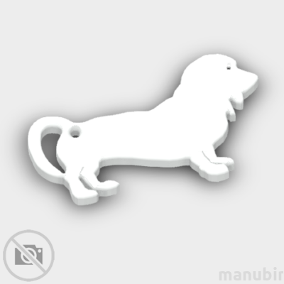 Basset Hound Shaped Keychain