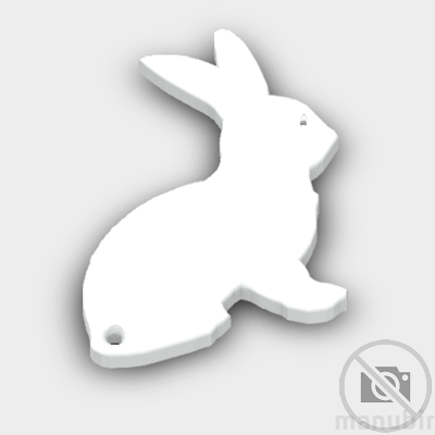 Bunny Shaped Keychain