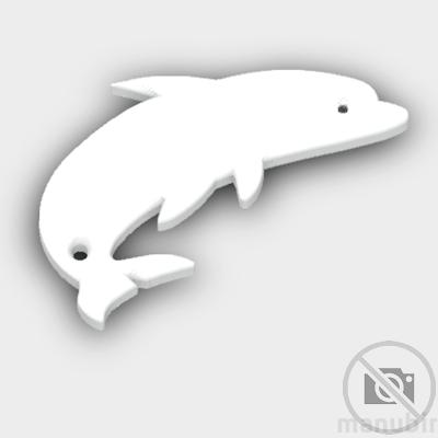 Dolphin Shaped Keychain
