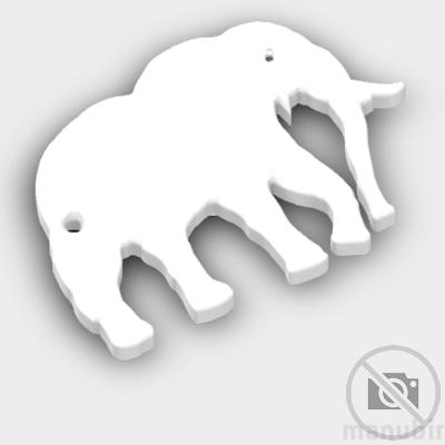 Elephant Shaped Keychain