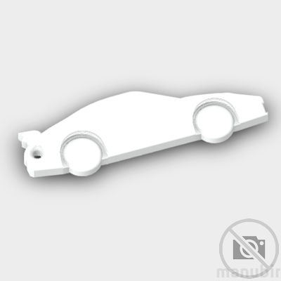 Porsche 911 Shaped Keychain