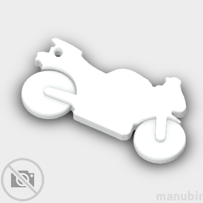 Sport Bike Shaped Keychain