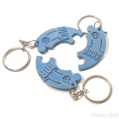 Three Persons Keychain