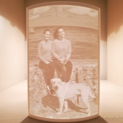 Curved 3D Photo - Lithophane