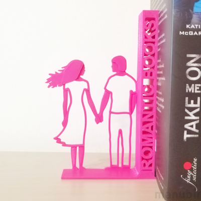 Custom 3D printed gift - Romantic Bookend