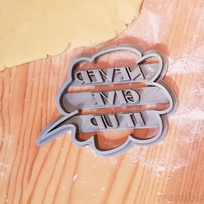Speech Bubble Cookie Cutter with Custom Text - 3d printed