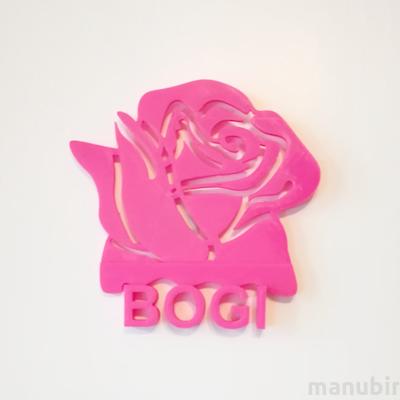 Custom Flower Door Plate - 3D printed