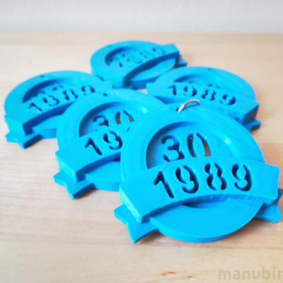 Custom 3D Printed Anniversary Keychain for teams