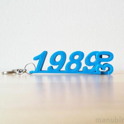 Custom 3D Printed Anniversary Years Keychain