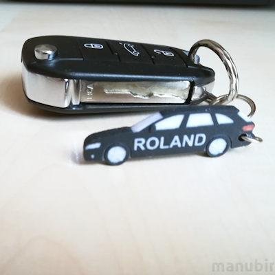 3D Printed Product - Audi A4 combi Keychain