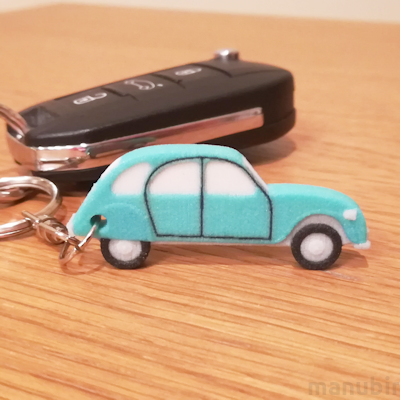Unique Keychain - Citroën 2CV