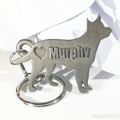 Australian Cattle dog shaped key ring
